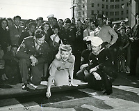 1943 Betty Grable's hand/footprint ceremony at the Chinese Theatre