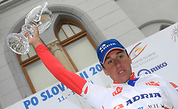 Robert Kiserlovski of Croatia Adria Mobil), 3rd in overall classification at 15th Tour de Slovenie and the best young cyclist in general after 4th stage of the 15th Tour de Slovenie from Celje to Novo mesto (178 km), on June 14,2008, Slovenia. (Photo by Vid Ponikvar / Sportal Images)/ Sportida)