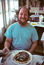Ben Atkins with Mussel Pizza