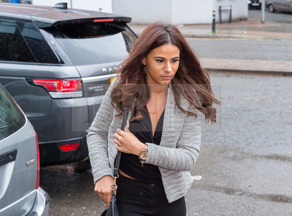 © Licensed to London News Pictures. 30/05/2018. Bristol, UK. CHANCE PRICE, daughter of Goldie (whose real name is Clifford Joseph Price), arrives at Bristol Magistrates Court where her father, Goldie, is to be sentenced for assaulting security guard at Glastonbury festival in 2017. Chance Price age 20, will also appear before the court. The court previously heard the case against Miss Price would be dropped once her father had been sentenced. Goldie, a DJ and musician age 52, had previously pleaded guilty to the charge by video link from Thailand, having failed to appear before the court in March and was contacted on a video-calling app to confirm his guilty plea. He admitted assaulting bouncer Dennis Poole on June 23 2017 by beating him. The judge then told the musician, who was based in Thailand at the time, that he would have to appear in person at court to be sentenced. Photo credit: Simon Chapman/LNP