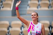 Petra Kvitova of the Czech Republic celebrates after winning her quarter-final match against Laura Siegemund of Germany at the Roland Garros 2020, Grand Slam tennis tournament, on October 7, 2020 at Roland Garros stadium in Paris, France - Photo Rob Prange / Spain ProSportsImages / DPPI / ProSportsImages / DPPI