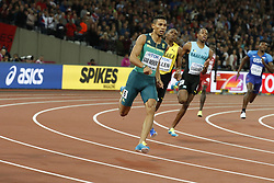 South Africa's Wayde Van Niekerk won easily the 400 meters men event during the IAAF World Athletics 2017 Championships In Olympic Stadium, Queen Elisabeth Park, London, UK on August 8, 2017 Photo by Henri Szwarc/ABACAPRESS.COM