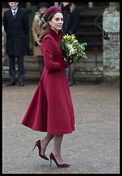 December 25, 2018 - Sandringham, United Kingdom - CATHERINE, Duchess of Cambridge  leaving the Christmas Day church service at Sandringham in Norfolk, United Kingdom. (Credit Image: © Stephen Lock/i-Images via ZUMA Press)