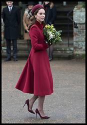 December 25, 2018 - Sandringham, United Kingdom - CATHERINE, Duchess of Cambridge  leaving the Christmas Day church service at Sandringham in Norfolk, United Kingdom. (Credit Image: © Stephen Lock/i-Images via ZUMA Press)