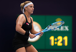 October 5, 2018 - Dominika Cibulkova of Slovakia in action during her quarter-final match at the 2018 China Open WTA Premier Mandatory tennis tournament (Credit Image: © AFP7 via ZUMA Wire)