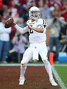 TUSCALOOSA, AL - NOVEMBER 10:  Quarterback Johnny Manziel #2 of the Texas A&M Aggies throws a pass during the game against the Alabama Crimson Tide at Bryant-Denny Stadium on November 10, 2012 in Tuscaloosa, Alabama.  (Photo by Mike Zarrilli/Getty Images)