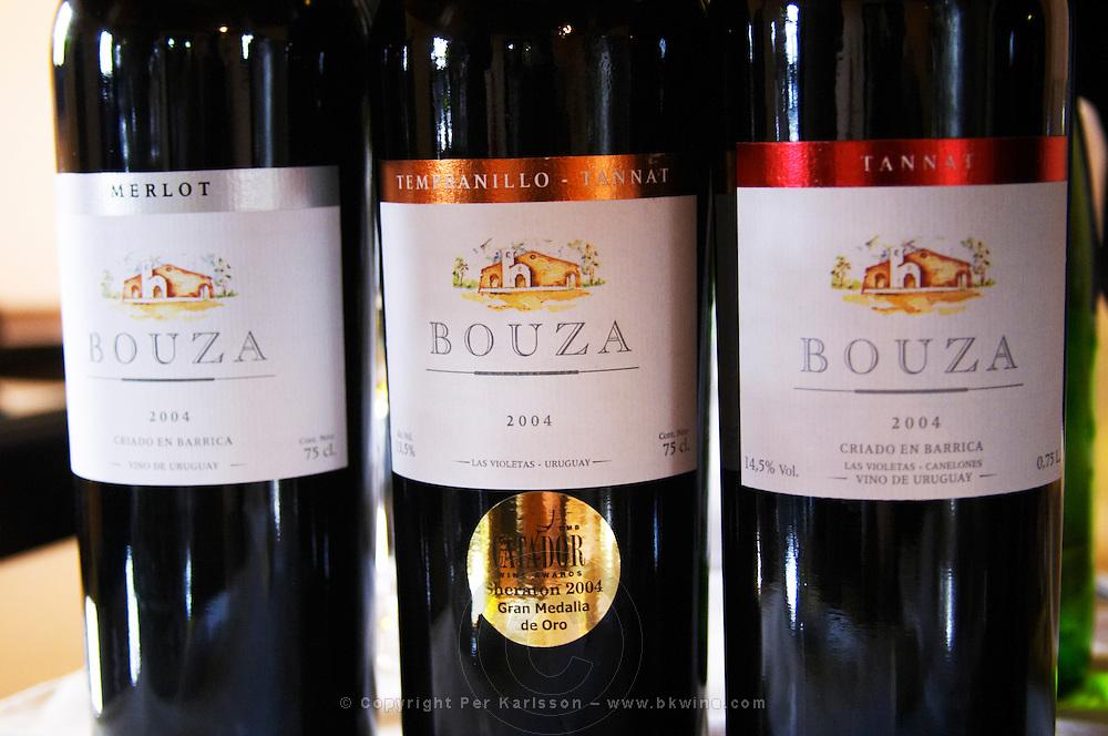 Bouza Merlot Barrel aged 2004, Tempranillo and Tannat 2004, Tannat barrel aged 2004 Bodega Bouza Winery, Canelones, Montevideo, Uruguay, South America