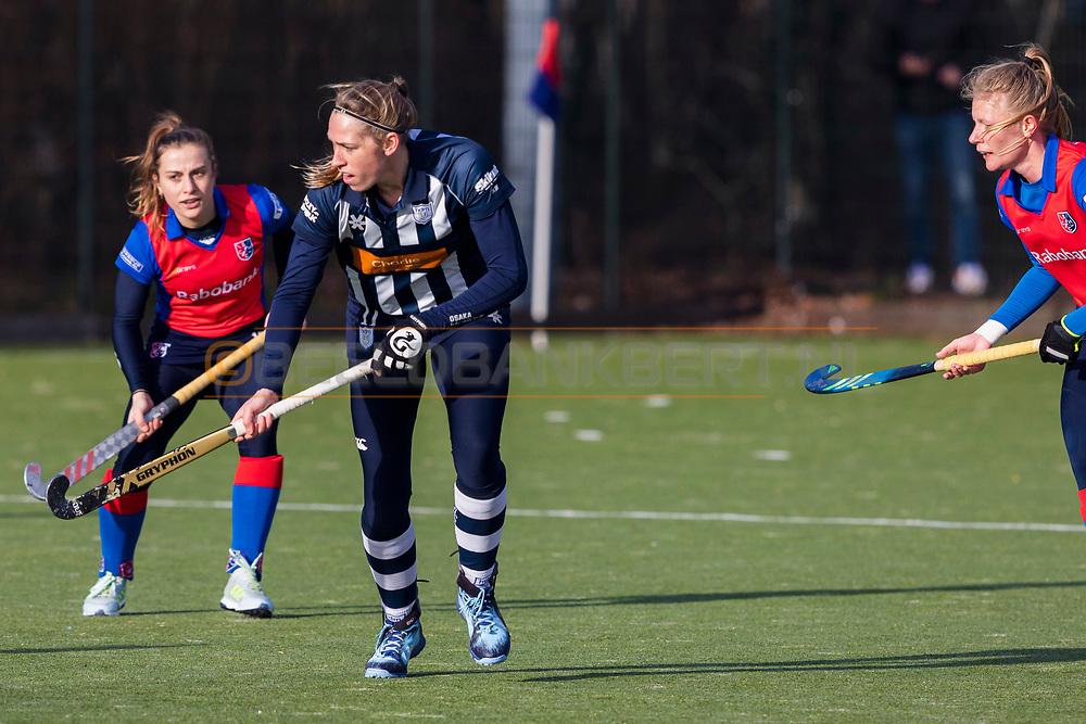 BILTHOVEN -  Hoofdklasse competitiewedstrijd dames, SCHC v hdm, seizoen 2020-2021.<br /> Foto: Pien van Nes (hdm)