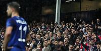 Football - 2017 / 2018 UEFA Europa League - Group E: Everton vs. Olympique Lyonnais (Lyon)<br /> <br /> Lyon fans shout at Kevin Mirallas of Everton at Goodison Park.<br /> <br /> COLORSPORT/LYNNE CAMERON