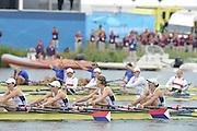 Eton Dorney, Windsor, Great Britain,..2012 London Olympic Regatta, Dorney Lake. Eton Rowing Centre, Berkshire[ Rowing]...Description;   USA W4X Bronze medalist, Natelie DELL, Kara HOLER, Megan KALMOE and Adrienne MARTELLI.    Dorney Lake...12:16:43  Wednesday  01/08/2012..[Mandatory Credit: Peter Spurrier/Intersport Images].