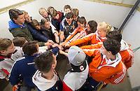 ABCOUDE - VOLVO JUNIOR CUP hockey . Abcoude C1 , met Alyson Annan als coach, en Heerhugowaard  strijden in Abcoude om de cup. Heerhugowaard wint met 3-1. COPYRIGHT KOEN SUYK