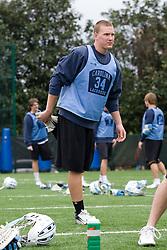 14 April 2008: North Carolina Tar Heels men's lacrosse midfielder Sean Delaney (34) during a practice day in Chapel Hill, NC.