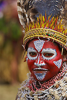 Woman from Western Highlands Province..Mount Hagen, Western Highlands Province, Papua New Guinea.