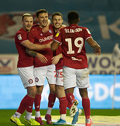 Jamie Paterson of Bristol City (2nd L) celebrates after scoring his sides first goal - Mandatory by-line: Jack Phillips/JMP - 11/01/2020 - FOOTBALL - DW Stadium - Wigan, England - Wigan Athletic v Bristol City - English Football League Championship