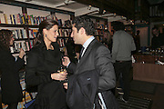 Julia Baumhoff and Luca del Bono, Book launch of Pretty Things by Liz Goldwyn at Daunt <br />Books, Marylebone High Street. London 30 November 2006.   ONE TIME USE ONLY - DO NOT ARCHIVE  © Copyright Photograph by Dafydd Jones 248 CLAPHAM PARK RD. LONDON SW90PZ.  Tel 020 7733 0108 www.dafjones.com