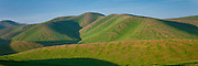 Green hills on the central California coast
