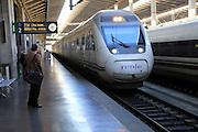 RENFE train at platform, Cordoba railway station, Spain