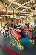 Coney Island's B&B Carousel, with its hand carved wooden horses built in 1906 and carefully restored, is on the National Register of Historic Places.