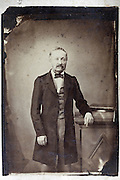 vintage portrait of male person from around the beginning of the 19th century