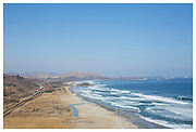 Surf's up at the Korean DMZ - Looking into North Korea from the Goseong Unification Observatory, South Korea.