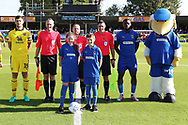 mascot during the EFL Sky Bet League 1 match between AFC Wimbledon and Oxford United at the Cherry Red Records Stadium, Kingston, England on 29 September 2018.