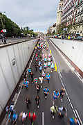 2013 Madrid Marathon runners and Alcala square