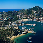 Aerial view of Cabo San Lucas, Baja California Sur, Mexico.