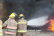 63818-02601 Firefighters at oilfield tank training, Marion Co., IL