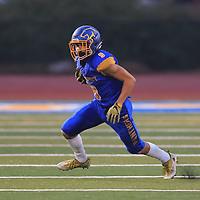 (Photograph by Bill Gerth/ for SVCN/9/1/17) Prospect #9 Conor Messier vs Westmont in a preseason football game at Prospect High School, Saratoga CA on 9/1/17. (Westmont 20 Prospect 0)