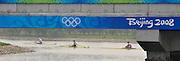 Shunyi, CHINA. 2008 Olympic Regatta,  Saturday, 09.08.2008  [Mandatory Credit: Peter SPURRIER, Intersport Images] 2008,Beijing,Olympic,Regatta, Games, , Rowing Course, Shun Yi Water Complex, Beijing, CHINA,