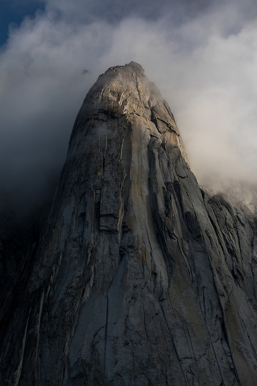 The Minaret at sunrise with clouds in East Creek, Bugaboo, Provincial Park, BC