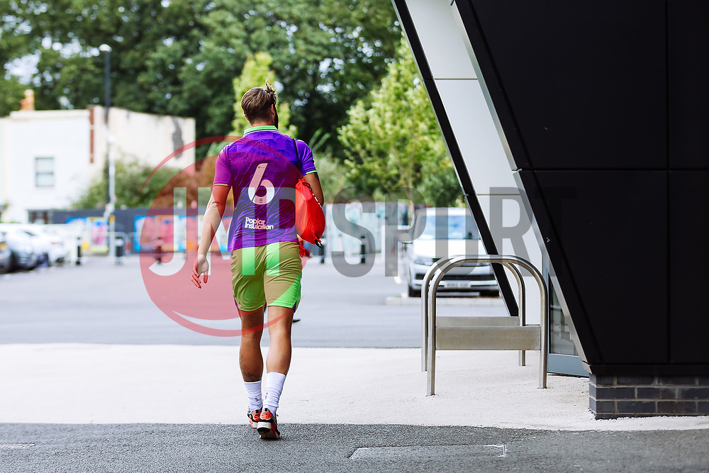 Nathan Baker of Bristol City arrives - Rogan/JMP - 21/08/2020 - Ashton Gate Stadium - Bristol, England - Bristol City v Cheltenham Town - Pre Season Friendly.
