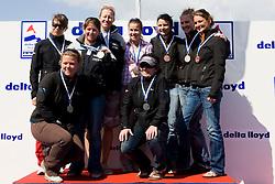 Medemblik - the Netherlands, May 31th 2009. Delta Lloyd Regatta in Medemblik (27/31 May 2009). Day 5, Medal races. Women's match racing podium.