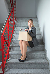 Business woman jobless depressed unemployed