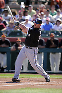 SCOTTSDALE, AZ - MARCH 09:  Adam Dunn #32 of the Chicago White Sox bats against the San Francisco Giants on March 09, 2011 at Scottsdale Stadium in Scottsdale, Arizona. The Giants defeated the White Sox 4-2.  (Photo by Ron Vesely)