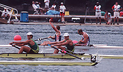 Atlanta, USA,   GBR M2- Gold Medallist, Bow, Steve REDGRAVE and Matthew PINSENT, on the awards dock after wiining the final at the 1996, Olympic Rowing Regatta at Lake Lanier, Gainsville Georgia,  [Photo Peter Spurrier/Intersport Images]
