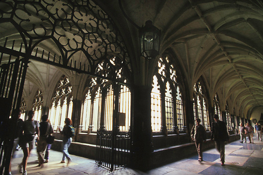 Cloister at Westminister Abbey in London, England.