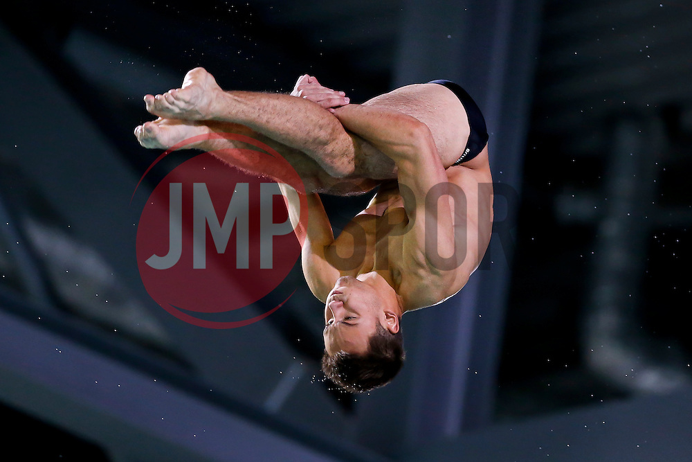 Tom Daley of Great Britain in action in the Mens 10m Platform Final going on to win the Silver Medal - Photo mandatory by-line: Rogan Thomson/JMP - 07966 386802 - 23/08/2014 - SPORT - DIVING - Berlin, Germany - SSE im Europa-Sportpark - 32nd LEN European Swimming Championships 2014 - Day 11.