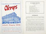 All Ireland Senior Hurling Championship Final,.07.09.1958, 09.07.1958, 7th September 1958,.Minor Galway v Limerick, .Senior Galway v Tipperary, Tipperary 4-09. Galway 2-05,..Advertisement, Clerys,