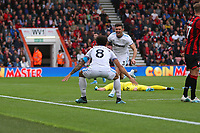 Football - 2019 / 2020 Premier League - AFC Bournemouth vs. West Ham United<br /> <br /> Aaron Cresswell of West Ham United celebrates scoring at the Vitality Stadium (Dean Court) Bournemouth <br /> <br /> COLORSPORT/SHAUN BOGGUST