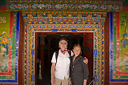 Peter Menzel and Faith D'Aluisio in Lhasa, Tibet.