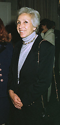 MADAME MARINA BULGARI a member of the jewellery family, at a party in London on October 16th 1997.MCE 7 WORO