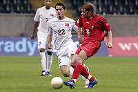 Fotball<br /> EM-kvalifisering<br /> Moldova v Tyrkia<br /> 11.10.2006<br /> Foto: imago/Digitalsport<br /> NORWAY ONLY<br /> <br /> Stanislav Ivanov (Moldawien, re.) gegen Hamit Altintop (Türkei)