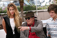 Actress Tea Falco, director Bernardo Bertolucci, actor Jacopo Olmo Antinori at the IO E TE film photocall at the 65th Cannes Film Festival France. Wednesday 23rd May 2012 in Cannes Film Festival, France.