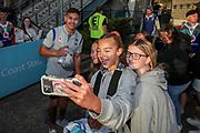 Chanel Harris-Tavita with fans. Vodafone Warriors v Manly Sea Eagles. NRL Rugby League, Central Coast Stadium, Gosford, NSW, Australia, Sunday 27th September 2020 Copyright Photo: David Neilson / www.photosport.nz