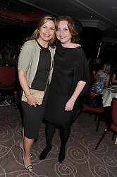 Left to right, LIZ EARLE and FIONA WALKER at the Cosmetic Executive Women (CEW) UK Beauty Awards 2012 held at the Intercontinental Hotel, Hamilton Place, London on 27th March 2012.