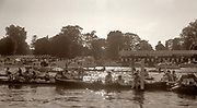 Henley, UNITED KINGDOM,  Spectators boat on the Booms waiting for the prizegiving to start. 1988 Henley Royal Regatta, Henley Reach. [Mandatory Credit Peter Spurrier/Intersport Images]