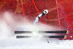Christoph Innerhofer of Italy crashed during  1st Run of Men's Giant Slalom of FIS Ski World Cup Alpine Kranjska Gora, on March 5, 2011 in Vitranc/Podkoren, Kranjska Gora, Slovenia.  (Photo By Vid Ponikvar / Sportida.com)