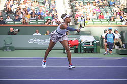 March 9, 2019 - Indian Wells, CA, U.S. - INDIAN WELLS, CA - MARCH 09: Venus Williams (USA) hits a forehand during the BNP Paribas Open on March 9, 2019 at Indian Wells Tennis Garden in Indian Wells, CA. (Photo by George Walker/Icon Sportswire) (Credit Image: © George Walker/Icon SMI via ZUMA Press)