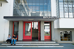 Bauhaus Building and architecture school designed by  Walter Gropius  in Dessau Germany